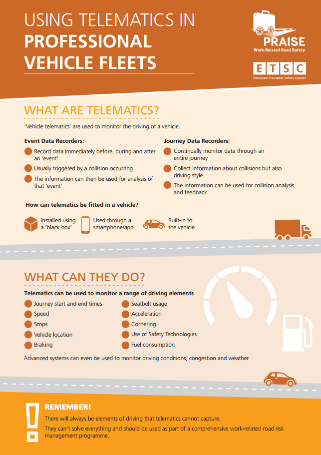 Infographic: Driving for Work: Using Telematics in Professional Vehicle Fleets