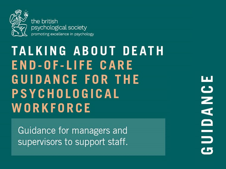 Talking about death – end of life care guidance for the psychological workforce