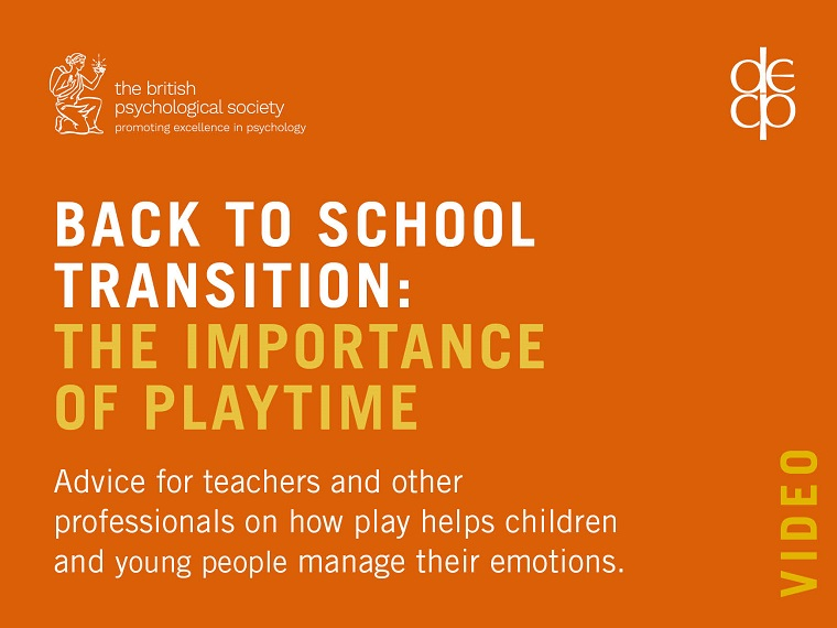 Back to school transition: the importance of playtime