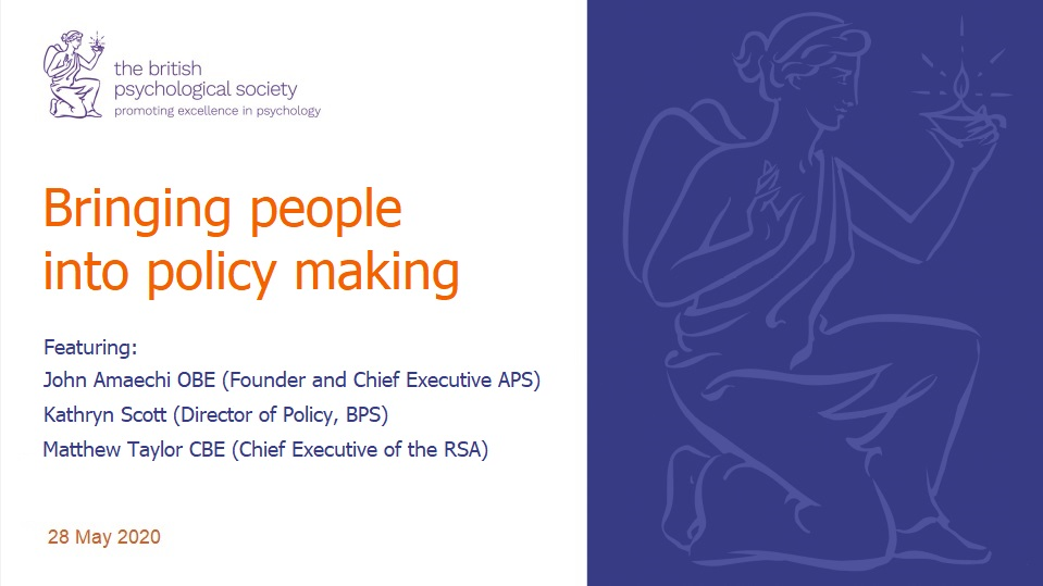 Bringing People into Policy Making