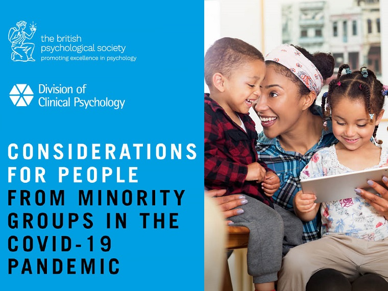 Considerations for people from minority groups in the Covid-19 pandemic