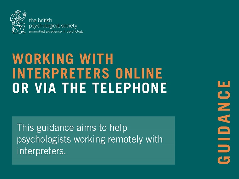 Working with interpreters online or via the telephone