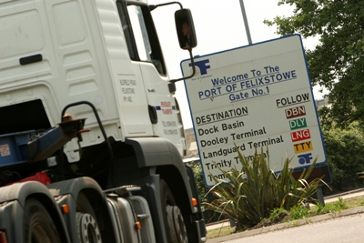 Felixstowe says sorry for long delays to container vehicles