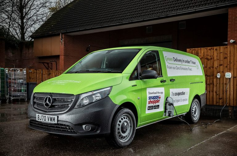 Central England Co-op trials home delivery service using zero-emission Mercedes-Benz eVito