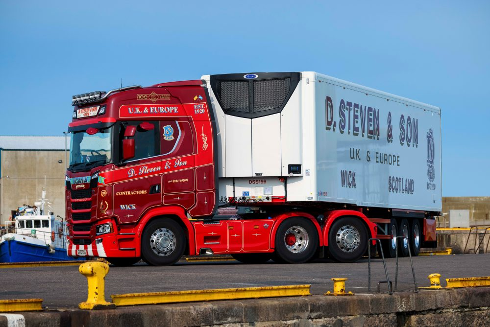D Steven & Son marks centenary with Gray & Adams trailer kitted with Transicold Vector HE 19 MT refrigeration unit