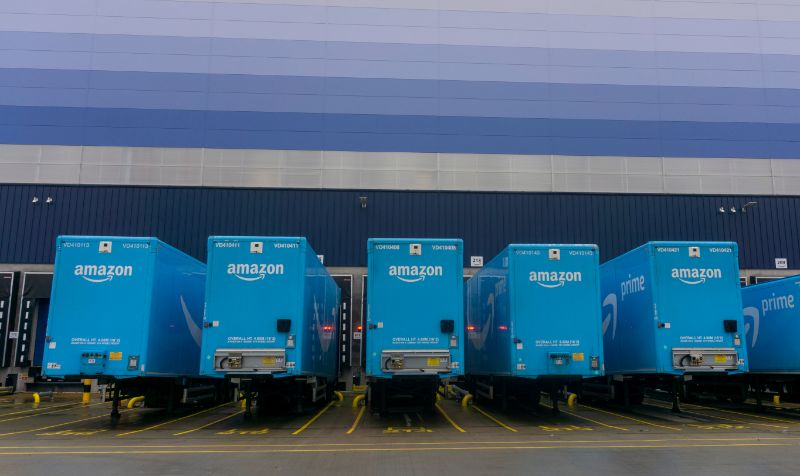 Amazon Logistics jumps to second place behind Royal Mail on index of Britain's biggest parcel couriers