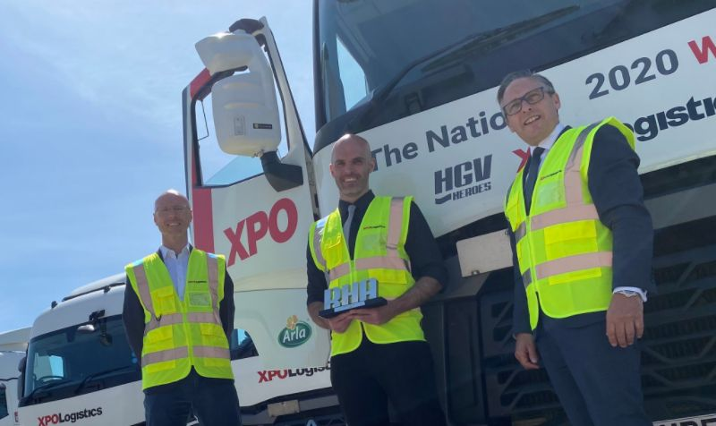 Driver who helped prevent suicide crowned HGV Heroes winner