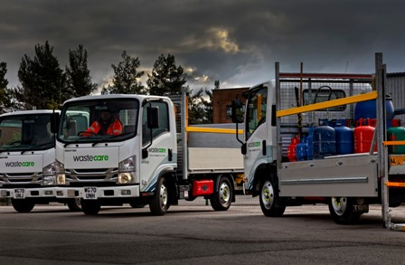 WasteCare adds Isuzu 3.5 tonners for gas cylinder collection